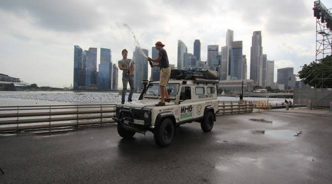 ESE Florence's Overland expedition team arrived in Singapore